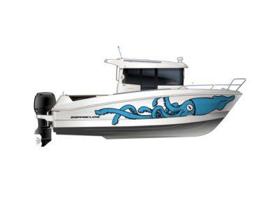 bateau Barracuda 7 - maquette morgate