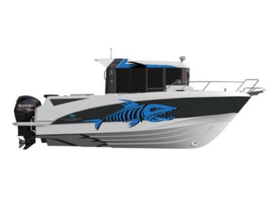 bateau Barracuda 8 - maquette covering et logo