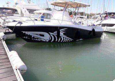 Covering wrapping bateau Cap Camarat 7.5 CC - Saint Gilles Croix de Vie