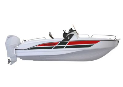 bateau Flyer 6.6 - maquette rouge et noir