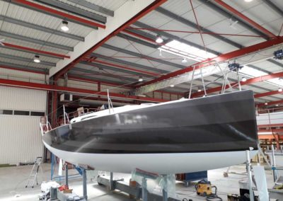 Covering wrapping bateau J99 Impression nuances de gris