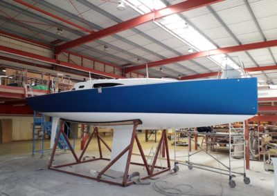 Covering wrapping bateau J99 bleu mat metal