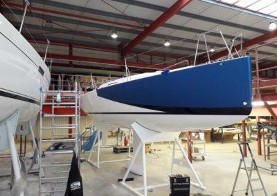 Covering wrapping bateau J99 decoration sur étrave