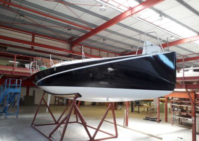 Covering wrapping bateau J99 noir metal