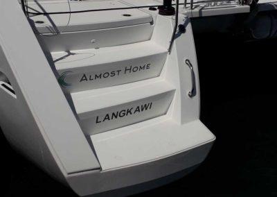 bateau Lagoon 40 - Nom et port d'attache