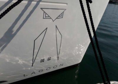 bateau Lagoon 450 - Pose aux Sables d'Olonne avant départ pour Malibu, CA