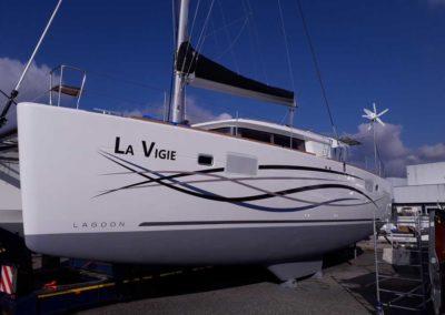 bateau Lagoon 450 - Pose aux Sables d'Olonne avant départ pour the Channels Islands, CA