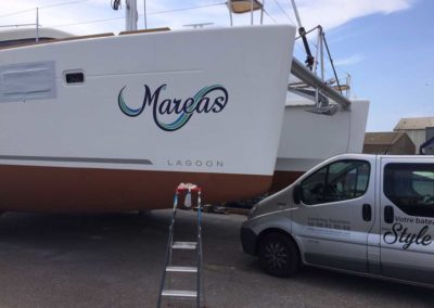 bateau Lagoon 450 - réalisation client - Les Sables D'Olonne