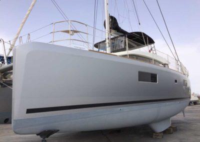 Covering wrapping bateau Lagoon 52 - Réalisé à Canet en Roussillon