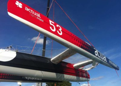 bateau Maxi Trimaran Ultim Team Actual