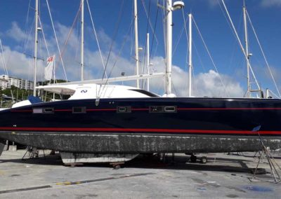 Covering wrapping bateau Nautitech 482 - Réalisé en Martinique