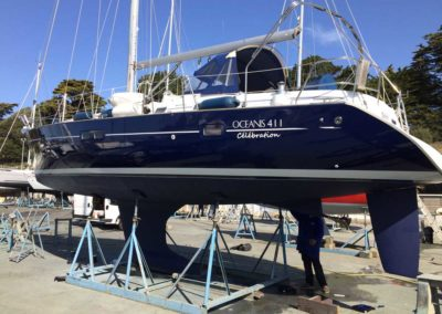 Covering wrapping bateau Oceanis 411 Celebration - Pornic
