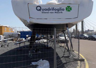 bateau Oceanis 51.1 - pose avant premiere mise à l eau