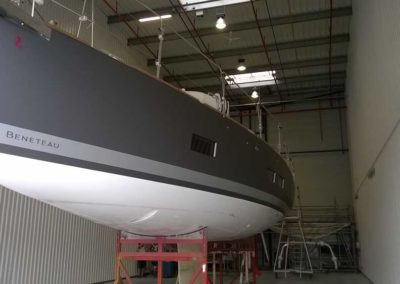 Covering wrapping bateau Oceanis 55 - Gris mat gunmetal